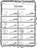 SH/ CH/ TH/ WH & Review Digraph Worksheets Bundle!