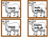 SH Consonant Digraph Reading Fluency Word Work Station