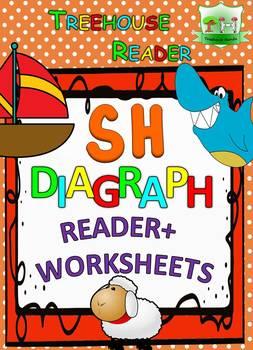 SH DIAGRAPH Reader & Worksheets & Flashcards: Shakira the Sheep