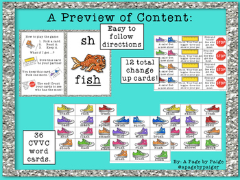 SH Digraph Card Game - Read and Keep Card Game