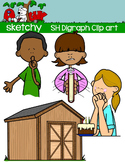 Digraphs SH / Word Families Clip art