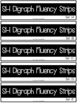 SH Digraph Fluency Strips