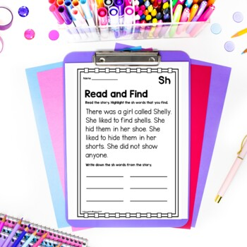 SH Digraph Worksheets
