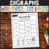 SH Digraph Worksheets, WH Digraph Worksheets - Matching Activity