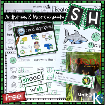SH Digraph Worksheets and Activities Set FREEBIE