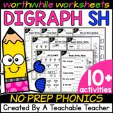 SH Digraph Worksheets for Teaching Digraphs - SH