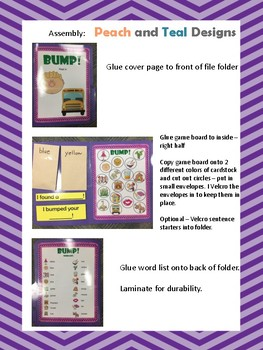 SH Initial position Articulation Bump! File Folder Game