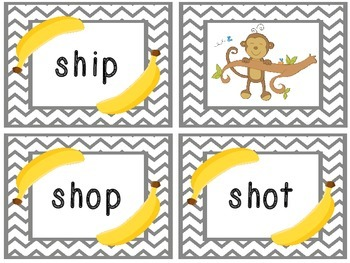 SH Phonics Game -- The Monkeys Ate the Bananas