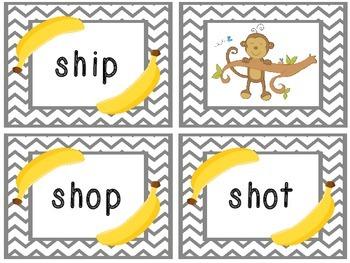 SH Phonics Game -- The Monkeys Ate the Bananas