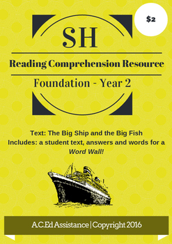 SH Reading Comprehension Resource