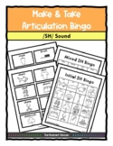 SH SOUND ARTICULATION Bingo Make & Take, SPEECH THERAPY Di