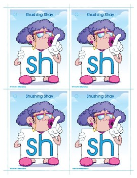 SH (Shushing Shay) Word Buddy Card