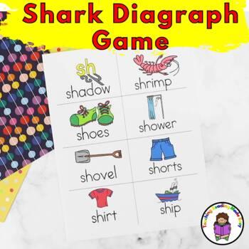 SH  Digraph Game - SHARK!! - Fun game to teach SH Sound Digraph.
