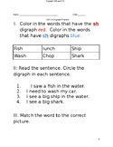 SH and CH Digraph activities