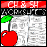 SH and CH Worksheets: Cut and Paste Sorts, Cloze, Read and Draw and more!
