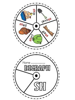 SH digraph word wheel (flash freebie)