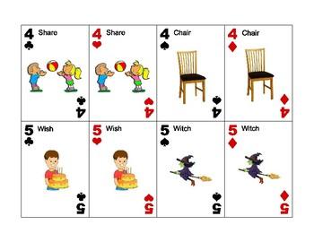 SH vs CH minimal pairs Go Fish