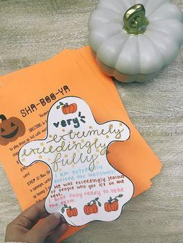 SHA-BOO-YA! An Engaging + Creative Vocabulary Activity for HALLOWEEN
