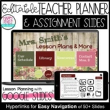 SHABBY CHIC Digital Teacher Planner Assignment Slides Goog