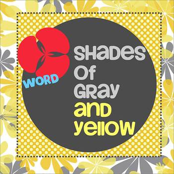 SHADES OF GRAY and YELLOW theme - Newsletter Template WORD