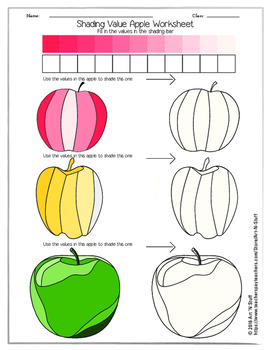 SHADING VALUE APPLE WORKSHEET #2