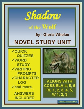 SHADOW of the WOLF by Gloria Whelan, Novel Study