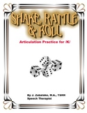 SPEECH THERAPY SHAKE,RATTLE & ROLL Articulation Game for /K/ Practice