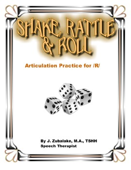 SPEECH THERAPY SHAKE,RATTLE & ROLL Articulation Game for /R/ Practice