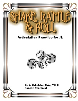 SPEECH THERAPY SHAKE,RATTLE & ROLL Articulation Game for /S/ Practice