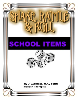 SPEECH THERAPY SHAKE,RATTLE & ROLL GAME-SCHOOL ITEMS