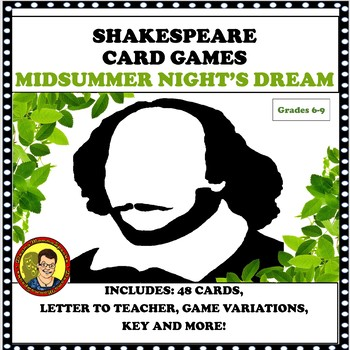 SHAKESPEARE CARD GAMES MIDSUMMER NIGHT'S DREAM PLAY
