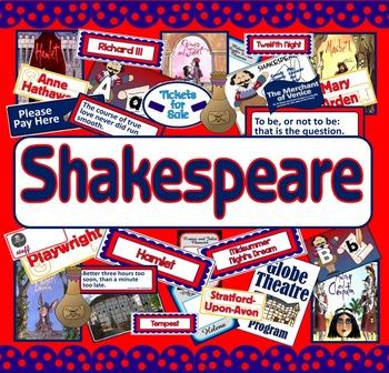 SHAKESPEARE - LITERACY ENGLISH MACBETH ROMEO JULIET MIDSUMMER NIG