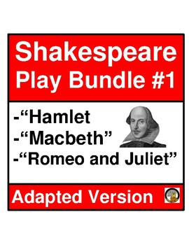 SHAKESPEARE PLAY BUNDLE- ADAPTED VERSION- NO PREP