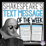 SHAKESPEARE POSTERS: TEXT MESSAGES