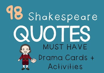SHAKESPEARE QUOTES / LINES Drama / English Cards (+ sugges