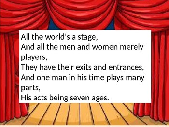SHAKESPEARE READING COMPREHENSION SEVEN AGES OF MAN
