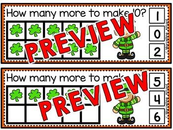 SHAMROCK CLIP CARDS: MAKING TEN: ST. PATRICK'S DAY MATH CENTER