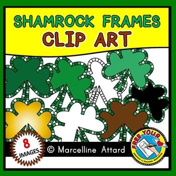 SHAMROCK FRAMES: SHAMROCK CLIPART FRAMES: ST. PATRICK'S DAY CLIPART
