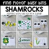 SHAMROCKS Fine Motor Busy Bins - St. Patrick's morning work tubs Pre-K & Kinder