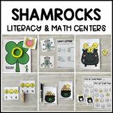 SHAMROCKS Literacy & Math Centers for St. Patricks Day (Pr