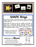 SHAPE Bingo and Matching Game!  A funsical way to review and identify shapes.