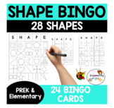 SHAPE + FINE MOTOR  BINGO GAME! 28 shapes & 24 cards ! k12345 sped
