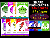 SHAPE FLASHCARDS AND GAME CARDS + COLORING PAGES