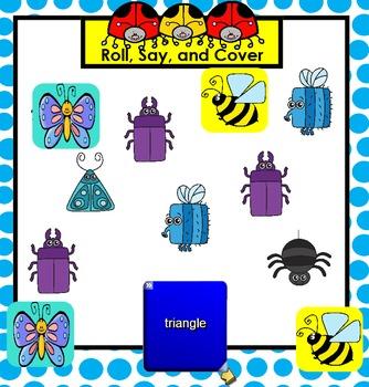 Bug Themed SMARTBOARD Flat Shape Games