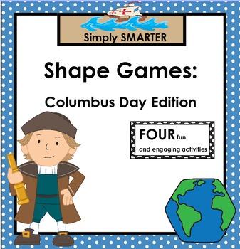 SMARTBOARD SHAPE GAMES:  Columbus Day Edition