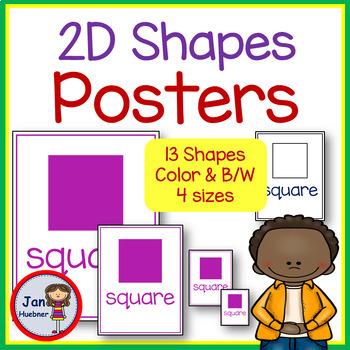 2D Shape Posters  (Pre-School, Pre-K, and Kindergarten)
