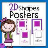 2D Shape Posters  (Pre-School, Pre-K, and Kindergarten)