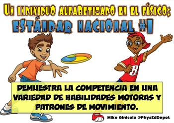 SHAPE National Standards Posters for PE in Spanish!