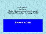 SHAPE POEM: EARTH SCIENCE JOURNEYS UNIT 3