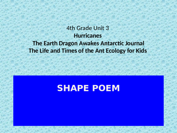 SHAPE POEM: EARTH SCIENCE JOURNEYS UNIT 3